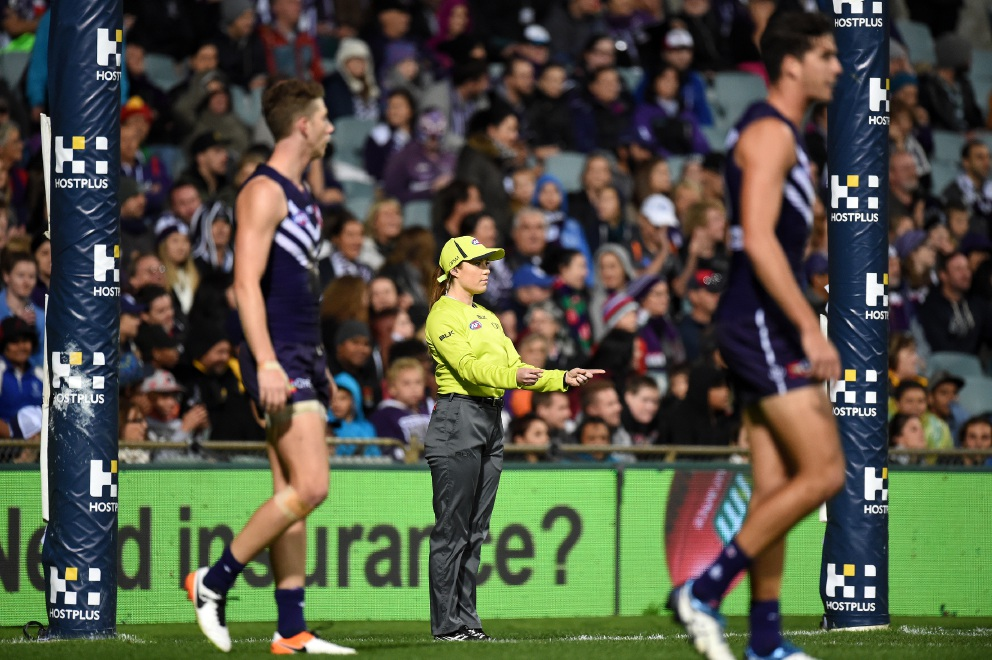 The AFL's newest female umpire: Darlington's Sally Boud blazing a trail