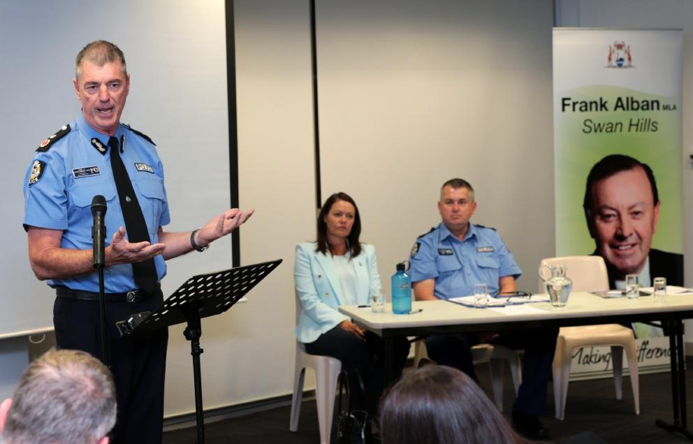 Ellenbrook crime forum: residents grill police commissioner Karl O'Callaghan