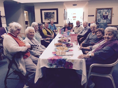 Volunteers at the Bethanie retirement home in Mandurah were given afternoon tea as a thank you for all the work they do.