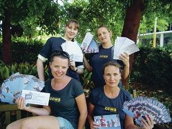 Alma Sirbegovic, Tara Jones, Harri Davies and Karen Klollopsi support the Wanneroo cash for containers campaign.