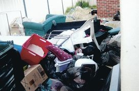 Photos of the rubbish supplied by the |residents who made the complaint.