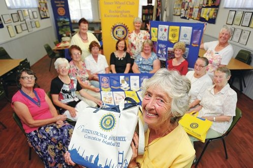 Treasurer Patricia Chandler and other members of the Inner Wheel Club of Rockingham and Kwinana.