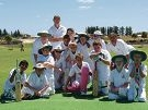 The Ellenbrook Rangers under-13 squad on Pink Stumps Day.