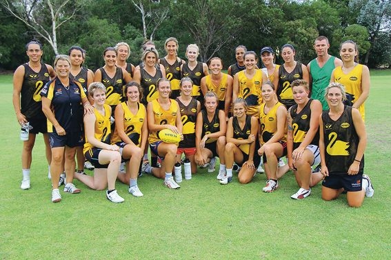The WA Women's Open team now carry out their training on the All Saints College oval.