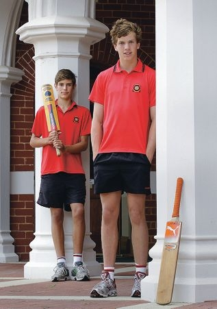 Aaron Hardie and Kristian Morisey say they feel honoured to have |recently represented WA in cricket. Picture: Martin Kennealey d396318