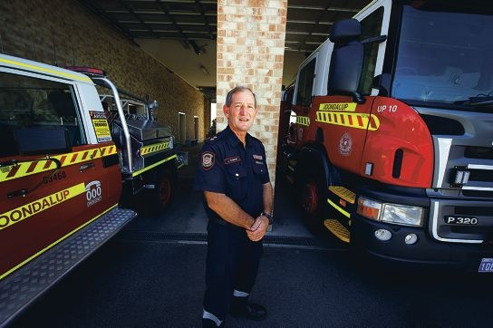 Station officer John Gordon is retiring after 38 years as a firefighter. Picture: Emma Reeves www.communitypix.com.au d396243