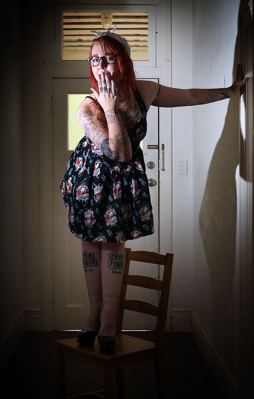 All of Amee Hadley's tats have special significance for her. Picture: Dominique Menegaldo www.communitypix.com.au d396413