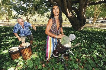 Village Vibes musicians, from left, Martin Phillips and Alastair van Schoor [NAMES OK]