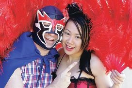 Cameron Lynch and Stella Hui,stars of Lucha Royale, making its debut at the Regal Theatre this month.Picture: Martin Kennealey d396659