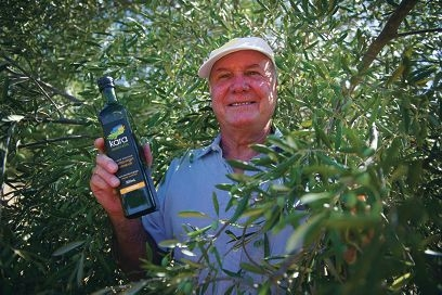 Good oil: Cyril Sauzier has been running his own olive grove for almost 10 years. Picture: Emma Reeves d396682
