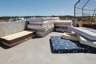 Recycle trial: Some 1450 mattresses were recovered to avoid landfill.