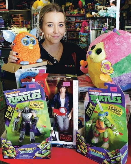 Asha Shivers of Toyworld Success with some of the toys that have proved popular. Picture: Martin Kennealey www.communitypix.com.au d397225