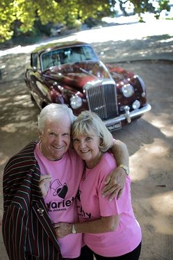 Bill and Maree Robinson with their 1955 Bentley S1 coupe, nicknamed Audrey.