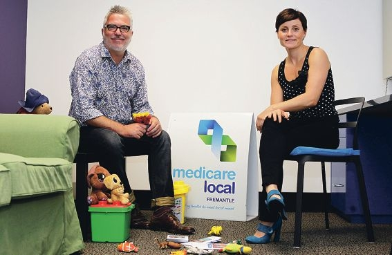 Fremantle Medicare Local triage and referrals officer James Healy and manager Katy Snellgrove are part of the expanded healthy minds service which now includes children's referrals.