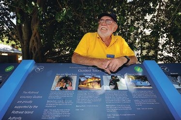 Bob Chapman has volunteered enormous amounts of his time to document the history of  Rottnest Island. Picture: Marcus Whisson www.communitypix.com.au d394855