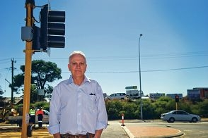 Kevin Fairman at the improved intersection after years of concern.