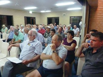 More than 100 farmers and residents attended the Gingin Water Group annual general meeting, at which attendees aired concerns about access rights to underground water.