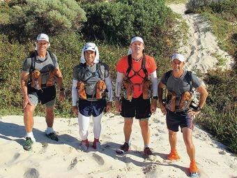 Brent Shaw, with teammates Geoff Reynolds, Greg Hunt and Darren Shapland will tackle the Marathon Des Sables trek.