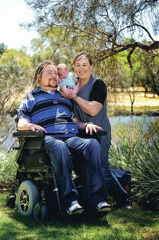 quadriplegic dad welcomes son