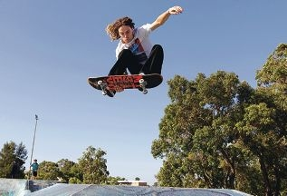 Skater Michael Rotondella in action. Picture: Martin Kennealey d397411
