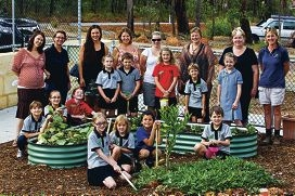 The Green Team and helpers. Picture: Matthew Poon www.communitypix.com.au d397079