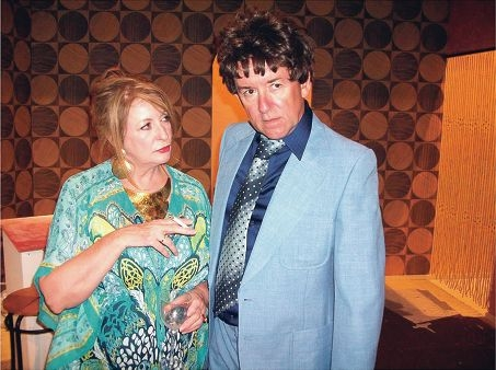 Jeanette Hotop is the pretentious host |Beverly who henpecks her husband Laurence (Gordon Park) in |Abigail's Party.