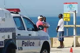 Search and Rescue try to find the body of a 15 year old after he drowned at Clayton Beach