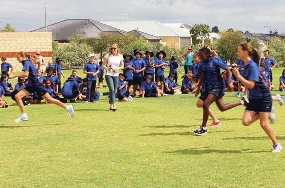 Piara Waters Primary School students compete.