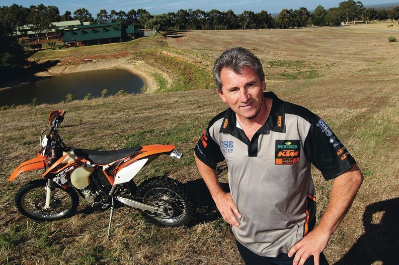 Willie Thomson is in charge of getting the Tumbulgum track ready for its annual motocross event. Picture: Marcelo Palacios d397816