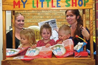 Corinne Scudder, Abby Scudder (3), Annabel White (3), Jaxon Nicol (3) and Becky White are the new guard for the Wanneroo Playgroup.