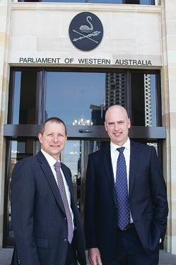New local representatives Matt Taylor and Dean Nalder.