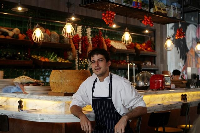 Sous chef Grant Greyling at the new Jamie's Italian. Picture: Andrew Ritchie www.communitypix.com.au d398176