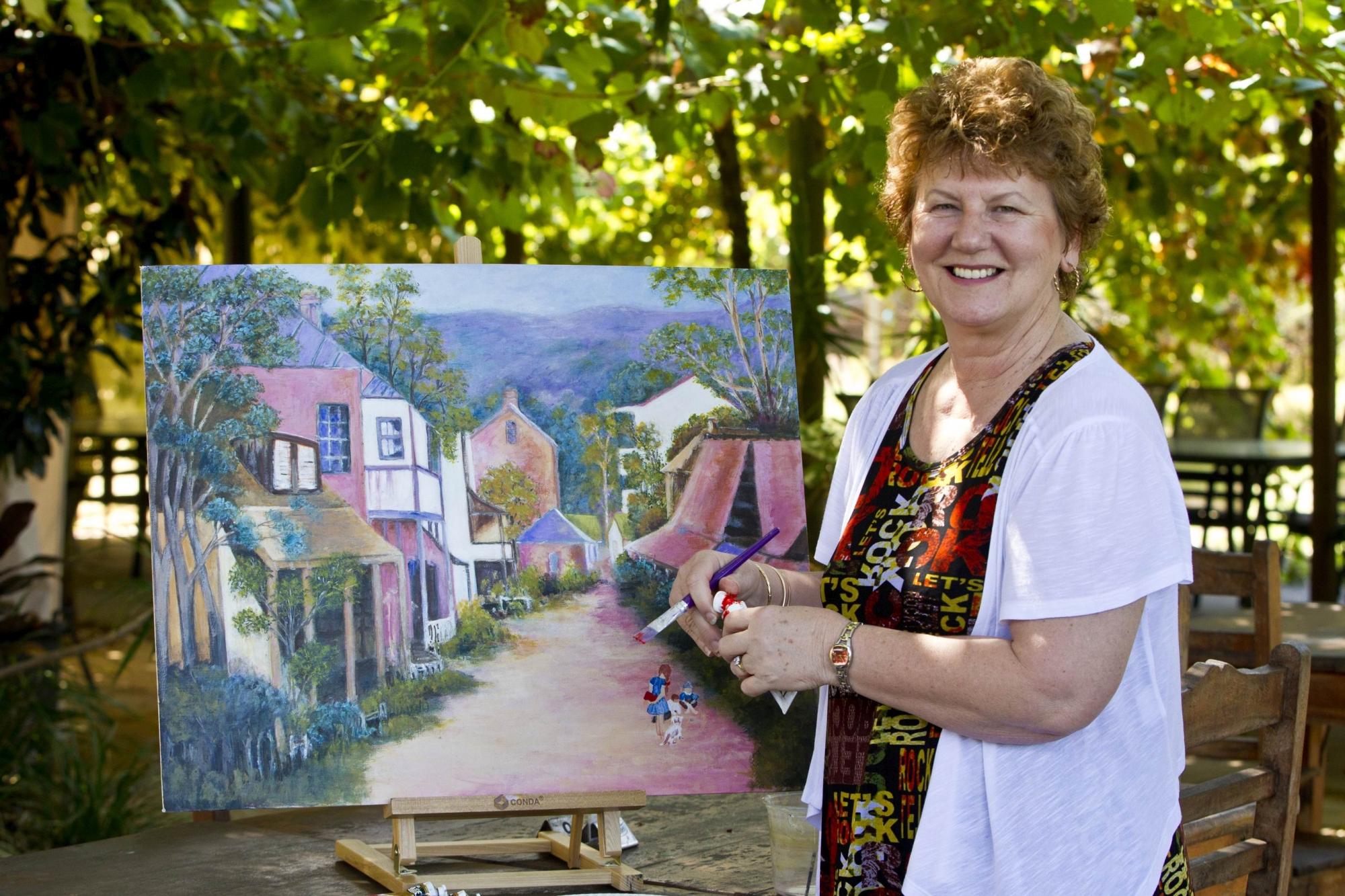 Artist Linda Gray. Picture: Matthew Poond397735