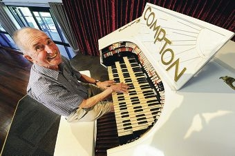 Organist Dave Parker...the Theatre Organ Society of Australia's WA branch is back after a two-year hiatus. Picture: Marcus Whisson www.communitypix.com.au d398407