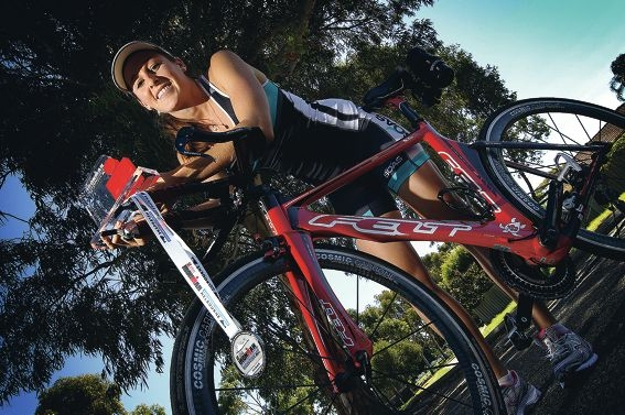 Despite being hit twice by cars in recent years, Katy Duffield has never let adversity get her off the bike.