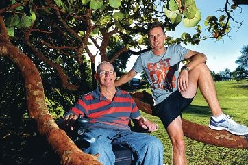 Tim Quirk (24) of Rivervale with his father Russell, who suffers from Multiple Sclerosis.