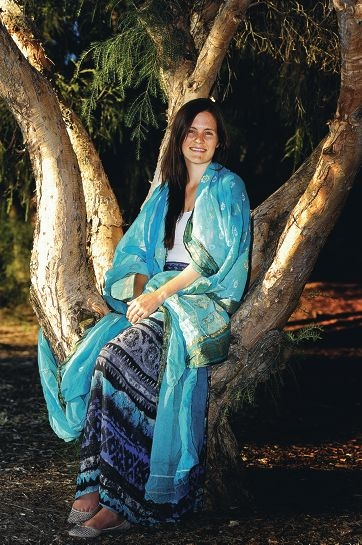 Kensington resident and occupational therapist Amy Rushton wearing a traditional Indian sari [NAME OK]