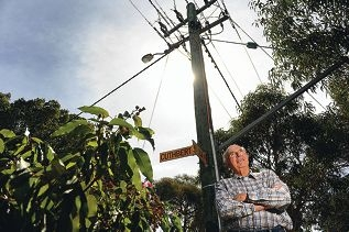 Peter Tallentire has campaigned for underground power in Shenton Park and his dream will finally be realised. Picture: Marcus Whisson www.communitypix.com.au d398798