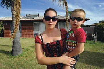 Single mum Rebecca Smirke with her son William (3).
