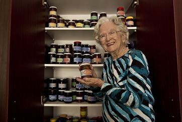 The Jam Lady... Wyn Finlayson has been recognised for her efforts to support children living in poverty by selling her homemade jam.