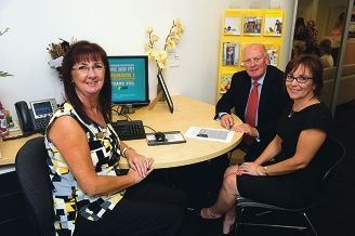 From Left: Karen Ebden (Joondalup Branch Manager), David Curry (President Joondalup Business Association), Karen Bailey (Area Manager Retail)