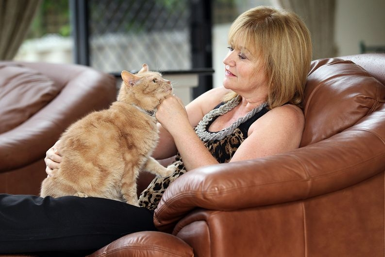 Esther Kacev believes her rescued cat Buddy sensed when she had breast cancer.