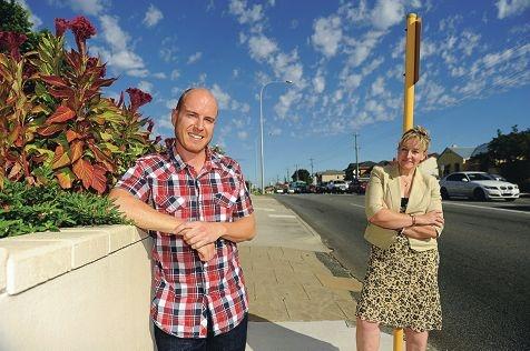 From left: City of Vincent Deputy Mayor Warren McGrath and Mayor Alannah MacTiernan on Charles Street [NAMES OK]