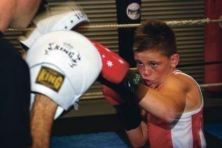 Jayden Druery won the Australian title at the National |Golden Gloves titles.www.communitypix.com.au d397843