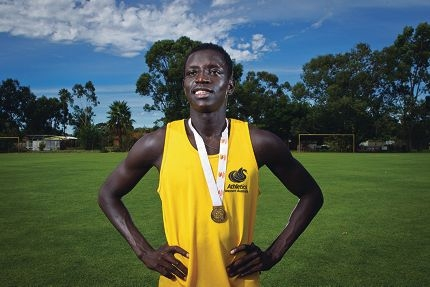 Promising middle distance runner Peter Bol. Picture: Matthew Poon www.communitypix.com.au d398745
