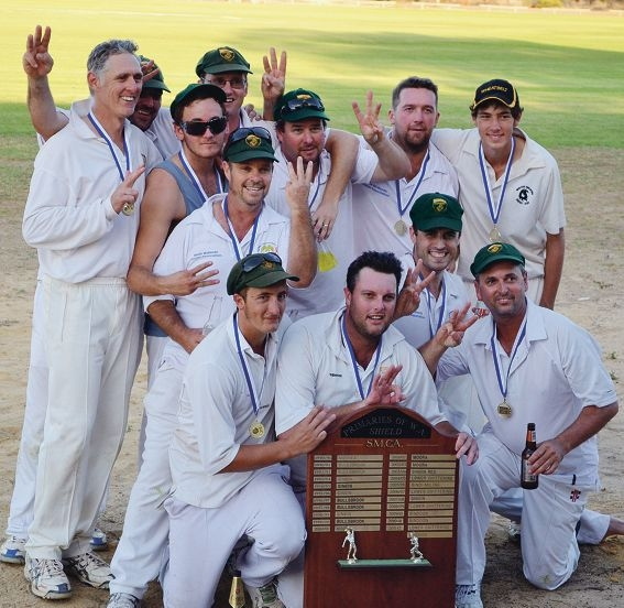 The Bindoon Bushrangers premiership team.