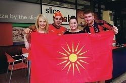 From Left: Danielle Terpou, Rob Pasquale, Rebecca Sherriffs, Darko Todoroski (Macedonian Student Association). ECU Food Festival