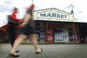 The abandoned Pavilion Markets. Picture: Andrew Ritchie d399609
