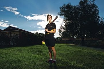 Softballer, baseballer and hockey player Brittany Keen is no fan of 'princess' sports. Picture: Matthew Poon d399226