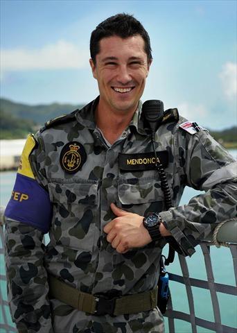 Able seaman Daniel Mendonca is serving in Afghanistan.